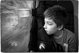 Alexander på tåget